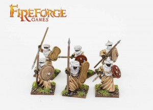 ARAB SUDANESE INFANTRY WITH SPEAR (6 INFANTRY RESIN FIGURES)