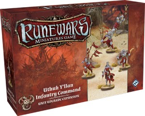Uthuk Y'llan Infantry Command Unit Upgrade Expansion: Runewars Miniatures Game