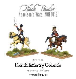 MOUNTED FRENCH COLONELS