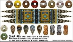 Moor Banner & Shield Transfers for 4pt Warband