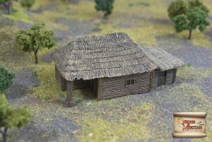 BIG PEASANT HUT WITH PIGSTY