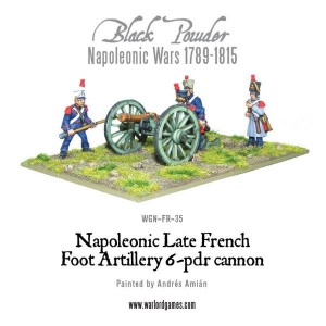 LATE FRENCH 6 POUNDER FOOT ARTILLERY
