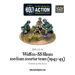Waffen-SS 81mm medium mortar team