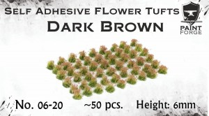 DARK BROWN FLOWERS 6MM