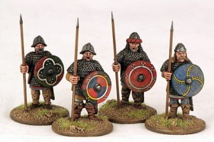 Carolingian Hearthguard On Foot