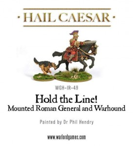 HOLD THE LINE! MOUNTED ROMAN GENERAL (AND DOG!)