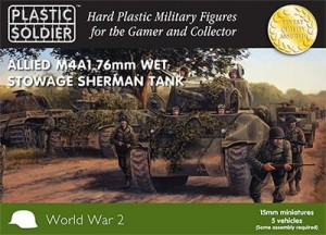 15mm Easy Assembly Sherman M4A1 76mm Wet Tank